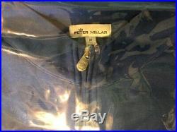 Scotty Cameron 2020 Peter Millar Bulldog MEDIUM Qtr Zip Sweater Blue Lapis NIB