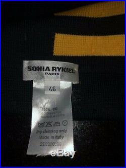 Sonia Rykiel Multicolor Stripe Women Wrap Sweater Cardigan SIZE M