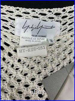 Ss1994 Yohji Yamamoto POUR HOMME Crochet Knit Shirt Medium New
