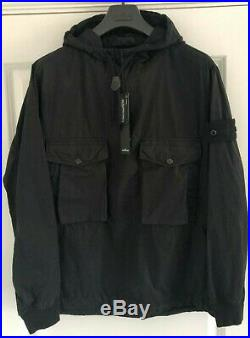 Stone Island Ghost Smock Jacket Black Medium BNWT COTTON NYLON TELA SWEATER