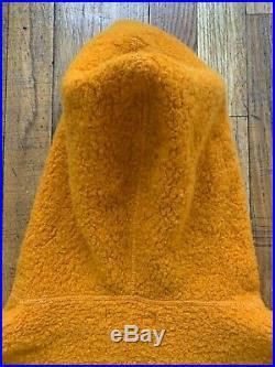 Stone Island lamsbwool hoodie orange garment dyed