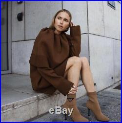 Super Rare CELINE BROWN CAPE COLLAR TOP (M), Phoebe Philo Fall 2018