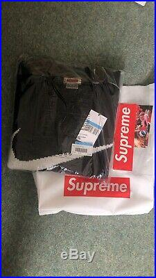 Supreme Nike Swoosh Sweater Black Size Medium IN HAND