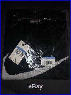 Supreme Nike Swoosh Sweater Black Size Medium IN HAND WITH RECEIPT