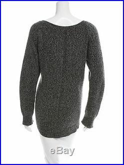 THE ROW MELANGE Bateau Boatneck Knit Oversize Sweater Grey Medium M