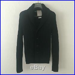TOM FORD Wool McQueen Cardigan Shawl Collar Sweater 48 M Navy TFK154-BSM53 NEW