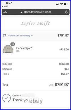 Taylor Swift folklore authentic OFFICIAL The Cardigan BRAND NEW! M/L