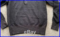 Tom Ford Mens Knitted Polo Shirt L/S Merino & Cashmere Sweater Sz 50 Med Brown