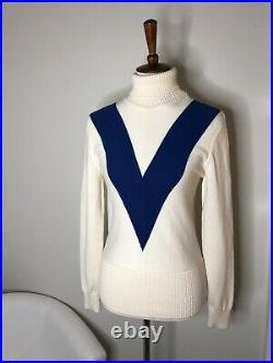 Tory Burch Sport Sweater Golf Tennis Chevron