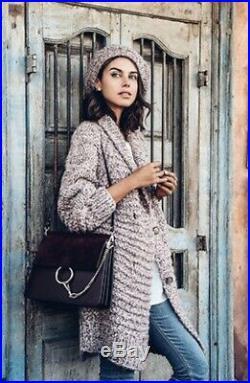 Ulla Johnson Hand Knit Aiko Alpaca Blend Long Over Sized Sweater