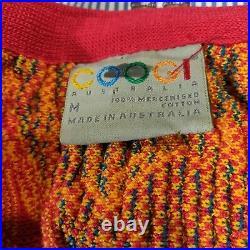 VTG 90s Coogi Casino 3D Textured Knit Cardigan Sweater MEDIUM Bright Australia