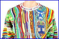 VTG 90s NEON COOGI Australia Cosby BIGGIE sweater FIRE sz M Authentic NEW NWT