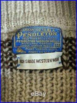 VTG Pendleton High Grade Western Wear The Dude Lebowski Mens Sweater Medium