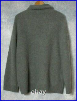 Vince $395 Cashmere Boxy Sweater in Desert Sage M