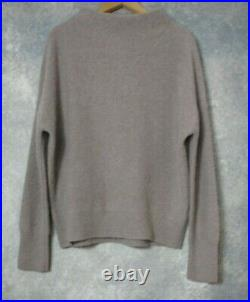 Vince Cashmere Funnel Neck Sweater in Heather Taupe M