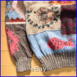 Vintage 80s 90s Polo RALPH LAUREN Native knit patchwork sweater men's M F/S