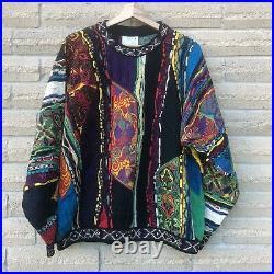 Vintage 90s 80s Coogi Australia Mens Wool Sweater Multicolored Size Medium