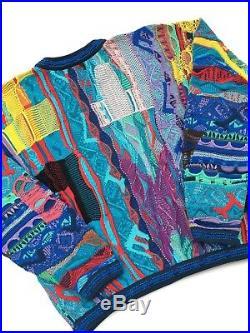 Vintage 90s Coogi Sweater Medium Fits Like Large Multi Color Hip Hop Rap