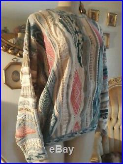 Vintage COOGI Australian shades of Blue Sweater
