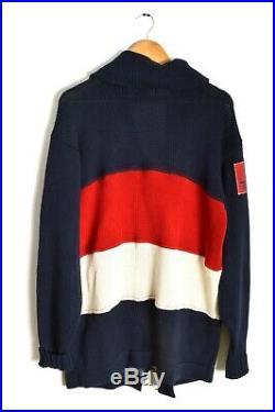 Vintage CP 93 Polo Ralph Lauren Nautical Cardigan Sweater Color Block US 67 Rare