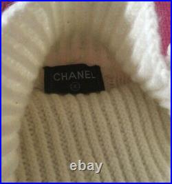 Vintage Chanel 90s fisherman chunky cable knit pure wool sweater Valentines Day