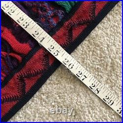 Vintage Coogi Rainbow Neon Crazy Mercerized Cotton Knit Sweater Medium