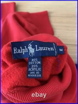Vintage Polo Ralph Lauren Cookie Sweater Turtle Neck USA Spell Out 90s M