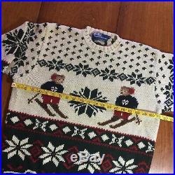 Vintage Polo Ralph Lauren Sweater Ski Bear Size Medium PRIORITY MAIL a