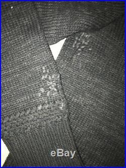 Vintage Rugby Ralph Lauren Shawl Collar Sweater Grey 1839 Medium Polo RRL