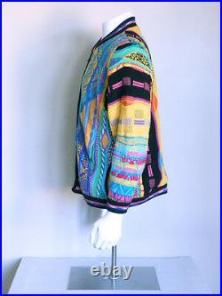Vtg 90s AUTHENTIC COOGI biggie hip hop vaporwave WOOL seapunk tracky jacket M