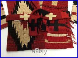 Vtg Polo Ralph Lauren Beacon Southwestern Indian Aztec Native Sweater Cardigan M