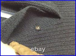 Vtg Polo Ralph Lauren Wool Alpaca Hunting Shooting Skeet Gun Patch Knit Sweater