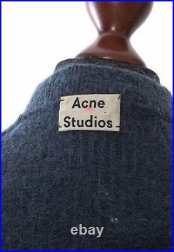 Women's ACNE STUDIOS Mohair Wool Cardigan Sweater Cape Blue Size M