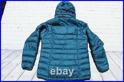 Womens PATAGONIA Blue Goose Down HI LOFT Hoody Sweater Jacket Medium $279