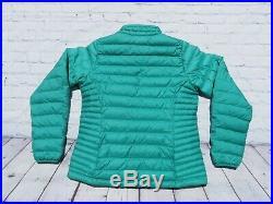 Womens PATAGONIA Green Goose Down Puffy Sweater Zip Jacket Medium $229