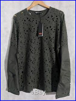 Y-3 Yohji Yamamoto x Adidas NWT Wool Hole Sweater M