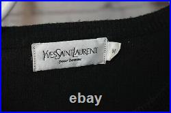 YSL Yves Saint Laurent Sweatshirt Size M Black Sweater Vintage Big Red Logo