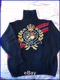 -vintage Original Polo Ralph Lauren Crest Wool Sweater Medium